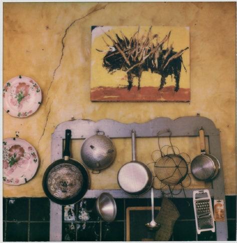 Un angolo della cucina.